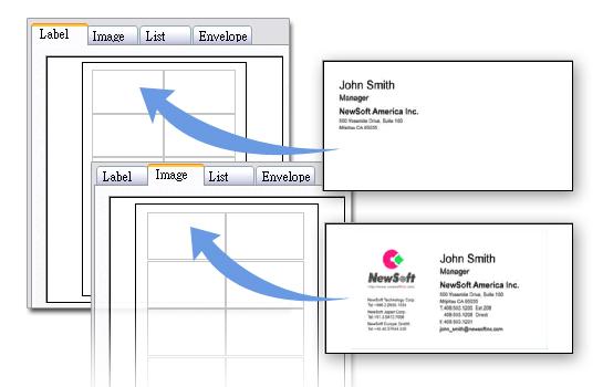 Presto! BizCard 6 includes a full-featured printing utility